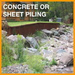 Concrete or Sheet Piling